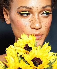 Your eyes are the perfect area to have a lot of fun with yellow makeup.