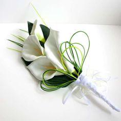 Bouquet da sposa con le calle - Bouquet minimal bianco
