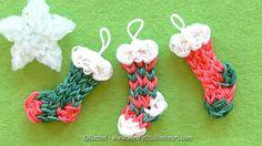 Tuto Chaussettes de Noël Rainbow Loom - Déco du sapin en élastiques