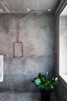 Exposed Copper Pipe For Mud Room Wet Room
