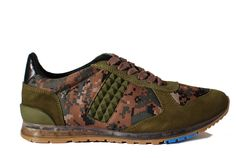 "$115 - Caminando - 1427 - CAMOFLAUGE - USE CODE ""PINIT"" FOR 10% OFF @ CitySoles.com This athletic inspired shoe feels like a tennis shoe but doesn't really look like one. On trend army camo nylon make up the main body of the shoe and is complimented by olive suede in all the right places and to top it off, matching pyramid studs. If you want to kick ass, you need kick ass shoes! Here ya go!"