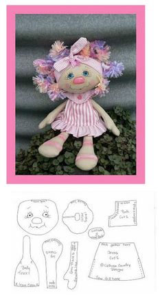 .doll stuffed toy pattern