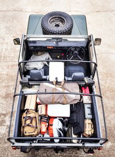Land Rover Series III - Loaded up for ranch trip.