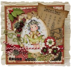 Tilda with banner, Nativity collection, Magnolia stamps