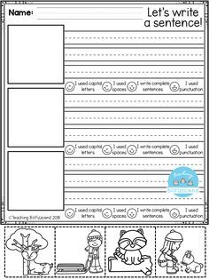 FREE, Fun, creative narrative writing prompts for your first grade, second grade, and kindergarten students to build confidence in writing. - Kids education and learning acts First Grade Writing Prompts, Narrative Writing Prompts, Kindergarten Writing Prompts, Free Kindergarten Worksheets, Work On Writing, Sentence Writing, Writing Lessons, Kindergarten Reading, Writing Workshop