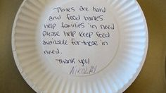 The Oregon Food Bank gathered each that emergency food recipients created. The plates were delivered to state legislators, urging them to make hunger a priority. Oregon Food Bank, Emergency Food, Pie Dish, Paper Plates, Campaign, How To Get, Messages, Create