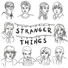 Stranger Things Illustration Process - Imgur