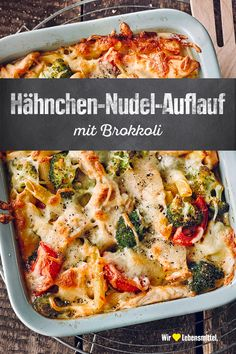 Hähnchen-Nudel-Auflauf Pasta casseroles are the perfect food when hunger strikes. They can be quickly prepared with a few ingredients for many people and baked with vegetables, meat and cheese of your choice -. With chicken and broccoli! Chicken Noodle Casserole, Pasta Casserole, Casserole Recipes, Meatball Casserole, Chicken Noodles, Broccoli Casserole, Chicken Pasta, Clean Eating Recipes For Dinner, Dinner Recipes