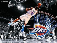 Kevin Durant HD NBA Playoffs basketball wallpaper 2012 - KD and the Thunder swept the Dallas Mavericks 4-0 in the first round of the 2012 NBA Playoffs.