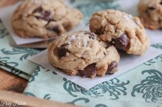 Salted Brown Butter Dark Chocolate Chip Cookies | http://picky-palate.com/2013/06/06/salted-brown-butter-dark-chocolate-chip-cookies/