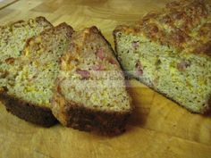 Peppered Bacon Cheese Bread Shared on https://www.facebook.com/LowCarbZen