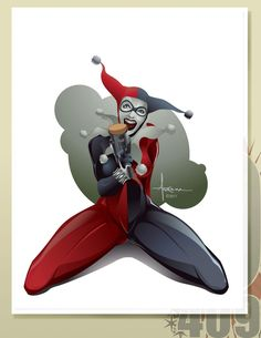 HARLEY LAUGHING by olo409.deviantart.com on @DeviantArt