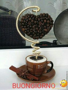 Whole Bean Coffee. Individuals who love coffee their very own choices while purchasing it. Some decide to buy grounded coffee although some others prefer Coffee Heart, Coffee Love, Coffee Bean Art, Floating Tea Cup, Teacup Crafts, Pot Pourri, Coffee Crafts, Deco Floral, Topiary