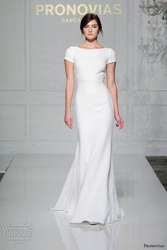 9 More Beautiful 2016 Wedding Dress Trends: #6. Minimalist Gowns