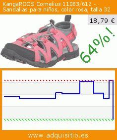 KangaROOS Cornelius 11083/612 - Sandalias para niños, color rosa, talla 32 (Ropa). Baja 64%! Precio actual 18,79 €, el precio anterior fue de 51,75 €. https://www.adquisitio.es/kangaroos/cornelius-11083612