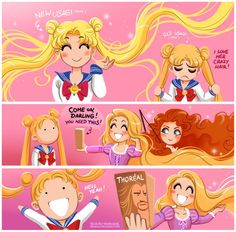 Image result for sailor moon buns