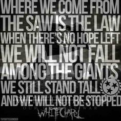 Whitechapel our endless war the saw is the law