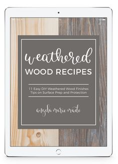 Weathered Wood Recipes Easy Woodworking Projects, Diy Wood Projects, Furniture Projects, House Projects, Furniture Plans, Woodworking Shop, Paint Furniture, Furniture Refinishing, Refinished Furniture