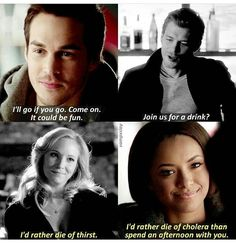 I'd rather die// Klaus and Caroline// Bonnie and Kai