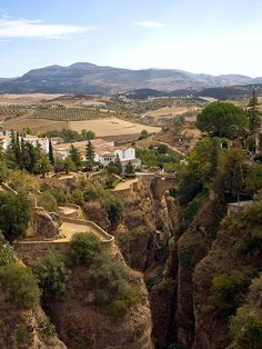 The Old Bridge in Ronda, province of Málaga, Andalusia, Spain by Gerry Balding, via Flickr