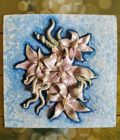 Air dry clay , floral wall mural! Air Dry Clay, Floral Wall, Clay Art, Wall Murals, Brooch, Brooch Pin, Flower Wall, Murals, Wall Paintings