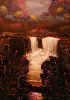"Saatchi Art Artist David Snider; Painting, ""Fall River II"" #art"