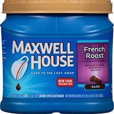 Maxwell House Original Medium Roast Decaf Ground Coffee, 11 Ounce (Pack of Coffee Tumbler, Coffee Mug Sets, Coffee Lovers, Coffee Tasting, Coffee Cafe, Maxwell House Coffee, Coffee Reading, Coffee Cream