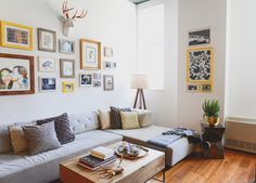 Homepolish Interior Design | Allie and Matt's space showcases their shared moments. A gallery wall of photographs and art by, for and of the couple are decorative items they both love.