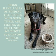For the most loved pets who love us unconditionally.  <3 Handmade ceramic pet bowl. by Creativity Happens