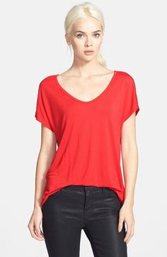 Trouve Trouvé 'Easy' V-Neck Tee available at #Nordstrom
