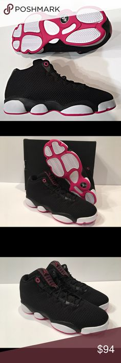 best service 89df6 8ca1f GIRLS Air Jordan Horizon Low GG Black Vivid Pink JORDAN HORIZON LOW New  with Original