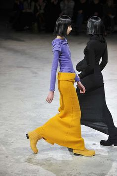 AC seeks to recover and archive unique fashion pieces found within internet and museum archives. It designes clothes and sells archival pieces at www. Unique Fashion, Fashion Art, Love Fashion, Runway Fashion, Womens Fashion, Fashion Design, Yohji Yamamoto, Trend Forecast 2018, Celebrity Outfits