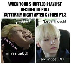 Lmao.. Yeah..same feels. u_u #BTS #Suga