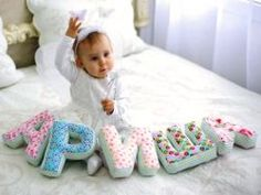 Как сшить буквы имени ребенка