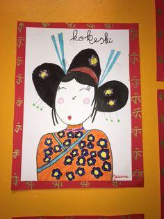 dessin guidé kokeshi - La classe de Teet et Marlou
