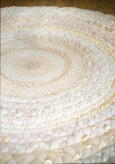 rag rug;  Thoughts on the creams:  looks nicer for a front room, could be a good use of white tee shirts, etc.  It is growing on me.