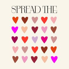 SPREAD THE LOVE #01 by lynus  SHOP at : https://lynus.threadless.com FREE shipping code : VDAY346835 __________  t-shirt  design spread the love typography illustration art fashion cute fancy pink hearts heart women's graphic tees lynus free shipping valentine's day gift apparel for her wishlist love SS 2017 trending trend home decor pillow totebag bathroom for her bedding