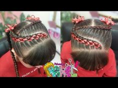 Peinado Infantil/ Casual Facil Y Rapido/ Peinados Rakel 41 Gymnastics Hair, Girl Hair Dos, Big Braids, Toddler Hair, Little Girl Hairstyles, Hair Bows, Short Hair Styles, Hair Beauty, Youtube