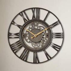 Wayfair Lehigh 15 Roman Gear Wall Clock #ad #clock #wallclock #wallhanging #walldecor #homedecor #homedecorideas #homedecoration #wayfair