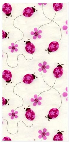 """Tickled Pink 54"""" Print //those ladybugs will work just fine ;)"""