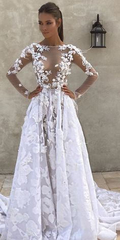 Don't want to look like white princess in your wedding dress on your big day? We collected for you some sexy wedding dresses ideas which are elegant alternatives. Wedding Dress Trends, Gorgeous Wedding Dress, Wedding Dress Sleeves, Long Sleeve Wedding, Wedding Bridesmaid Dresses, Dream Wedding Dresses, Bridal Dresses, Wedding Gowns, Perfect Wedding