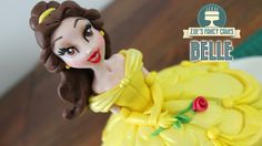 Belle doll cake : Beauty and the Beast Disney Princess cakes - Cake Decorating Dıy Ideen Doll Cake Tutorial, Cake Topper Tutorial, Fondant Tutorial, Corpse Bride Doll, Bride Dolls, Beauty And The Beast Party, Disney Beauty And The Beast, Zoes Fancy Cakes, Belle Cake