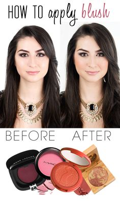 How to apply blush.