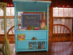 Snack Stand / Lemonade Stand for 18 in doll by lanning83 on Etsy, $50.00
