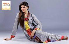 Amna Creations Eid Dresses 2013 For Women
