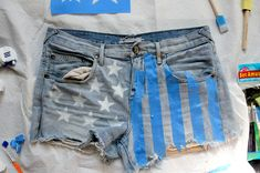 American Flag Shorts DIY – How To Make American Flag Shorts | Free People Blog #freepeople