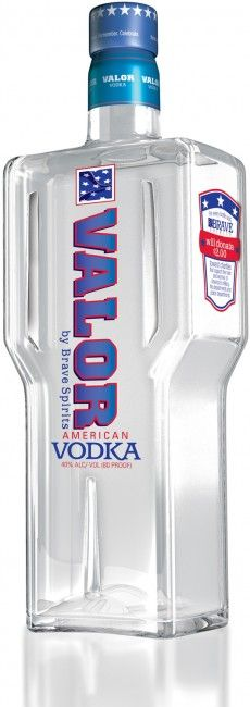 Brave Spirits Valor Vodka For every bottle of spirits sold, two dollars of the purchase price goes to a foundation which in turn, makes donations to various military, police, and firefighter charities.