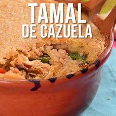 Video of Tamal de Cazuela - Cooking Recipes Cooking Videos Tasty, Food Videos, Cooking Recipes, Mexican Dishes, Mexican Food Recipes, Latin Food, Love Food, Appetizer Recipes, Food Porn