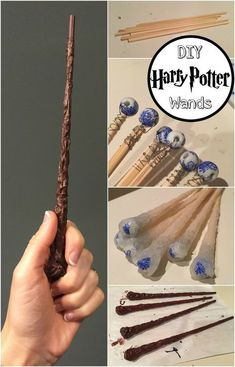 DIY Harry Potter Wands - Chopsticks, Wire, Beads, Hot Glue, Paint