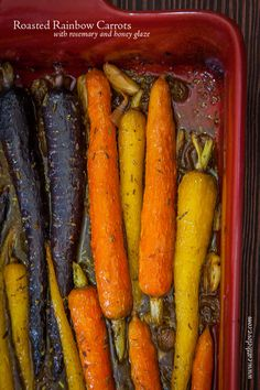 Roasted Rainbow Carrots with Rosemary and Honey Glaze. Photo and recipe by Irvin Lin of Eat the Love.